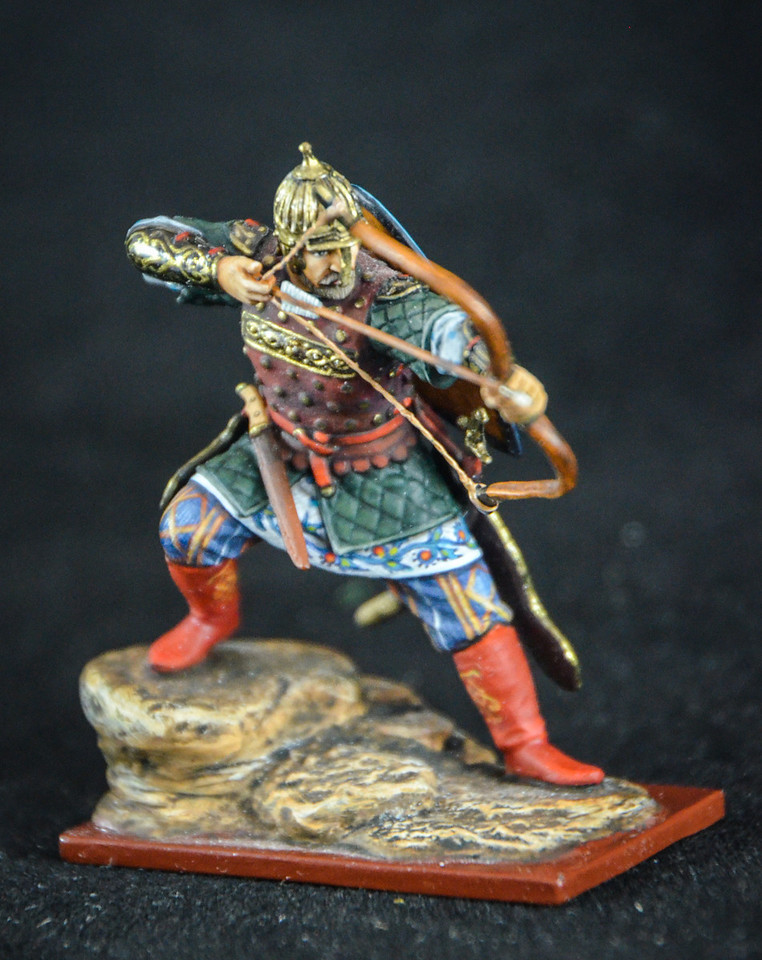 14th C Russian Archer Firing Bow 1