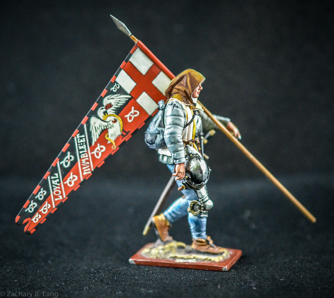 3820 3 War of the Roses Warrior w- Flag 3