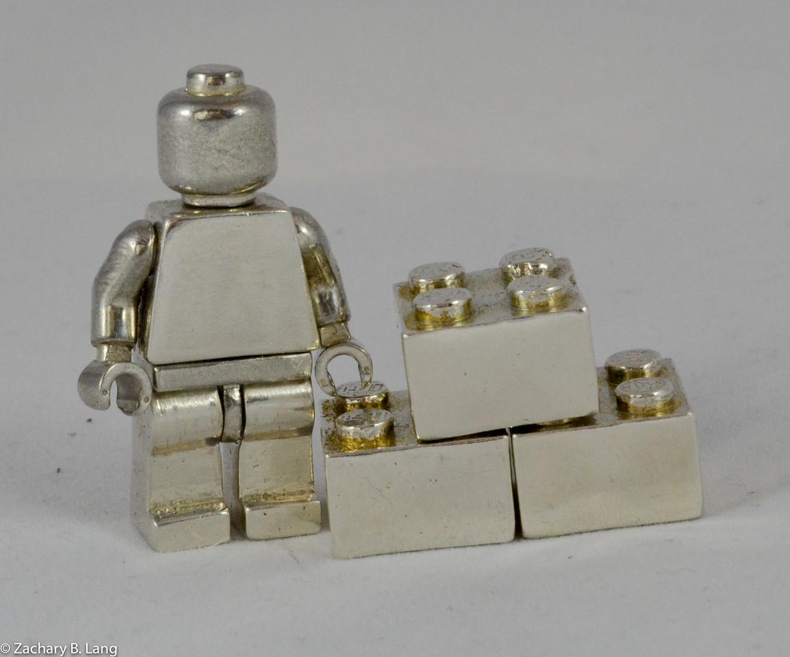 Silver Lego Minifig img1