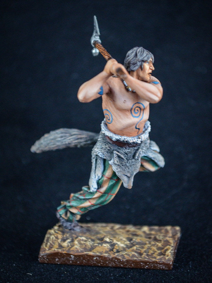 Barbarian in Battle w- Axe w- Pelt around waist 2