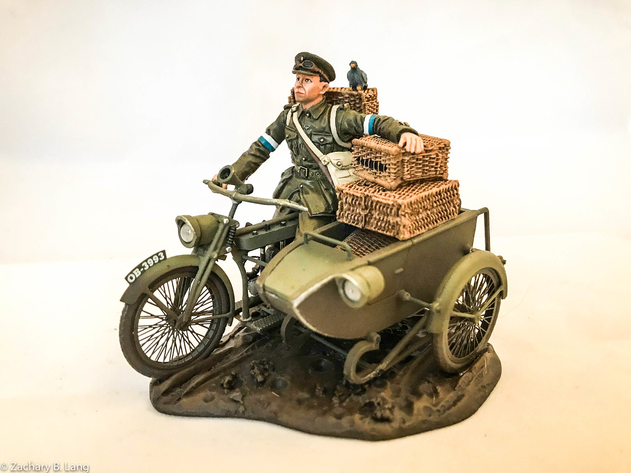 Dispatch Rider with Sidecar - Royal Engineers Signal Service (RESS)-John Jenkins Designs-GWB-15D
