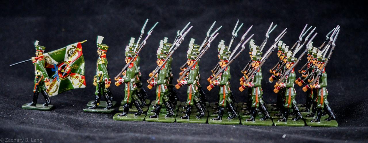 Frontline Russian Preobrashenski Reg Troops and Band 1