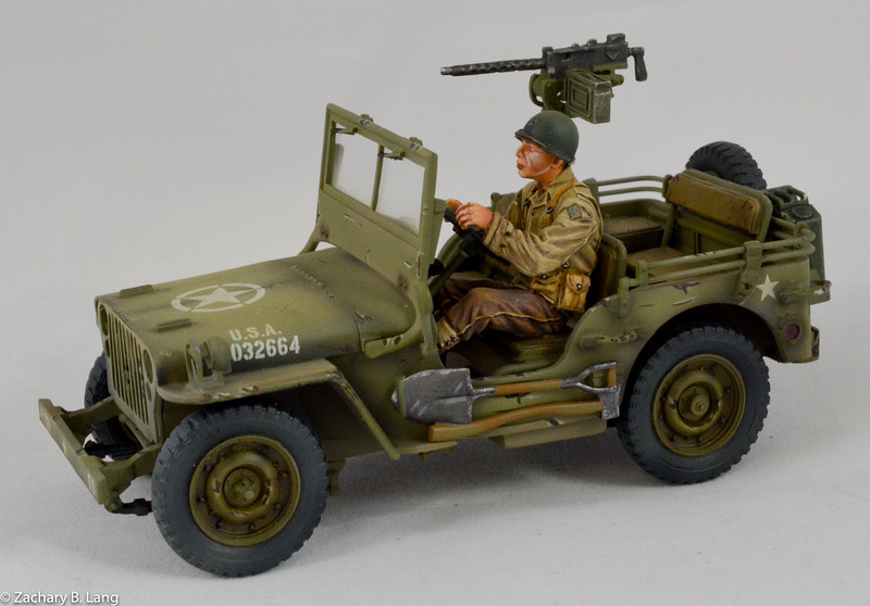 US Willys jeep & Driver, 22nd Inf 4thDiv-First Legion-NOR050 img1