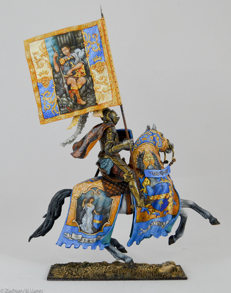 Parade Knight with Flag-Sineus Casting - Painted by Vitaly Puzenko-CF05 3 img2