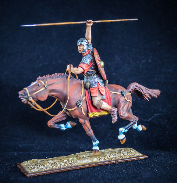 Roman Cavalryman at Full Gallop w- Spear 1