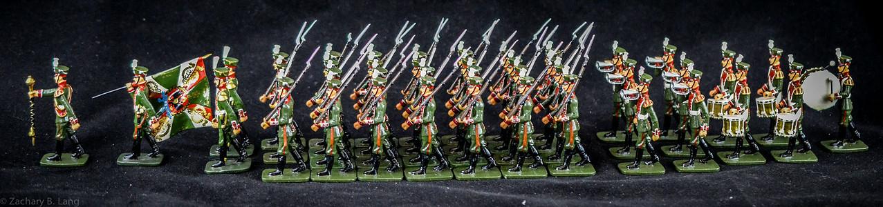 Frontline Russian Preobrashenski Reg Troops and Band 2