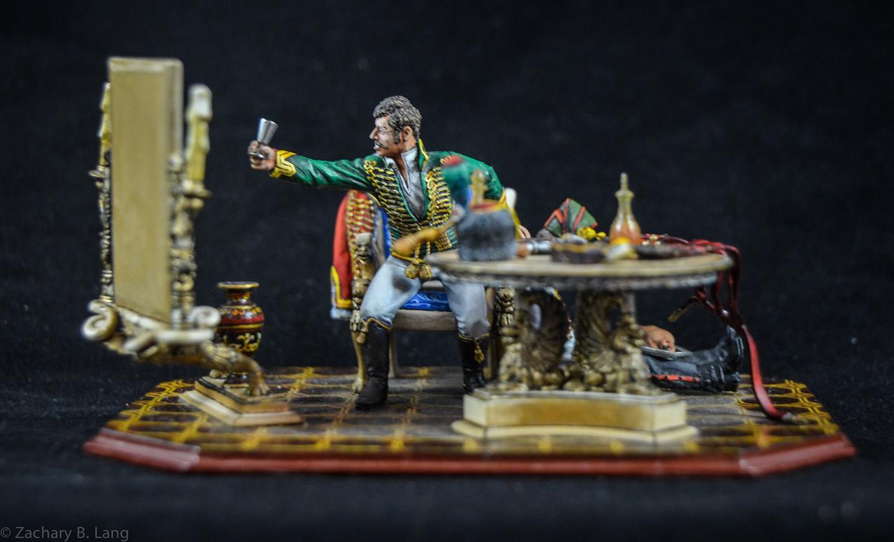 Hussar and Servant Celebrating Medal 1