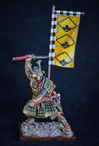Samurai Warrior, Full Armor w-Sword and Flag 1