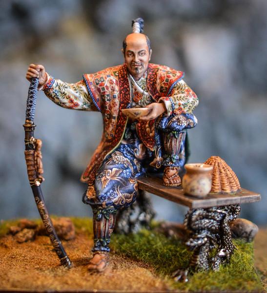 SA14  Seated Samurai 1