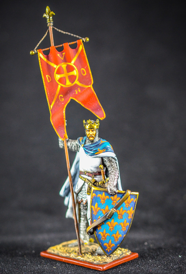 Philippe Auguste King of France Holding Oriflamme Flag 1