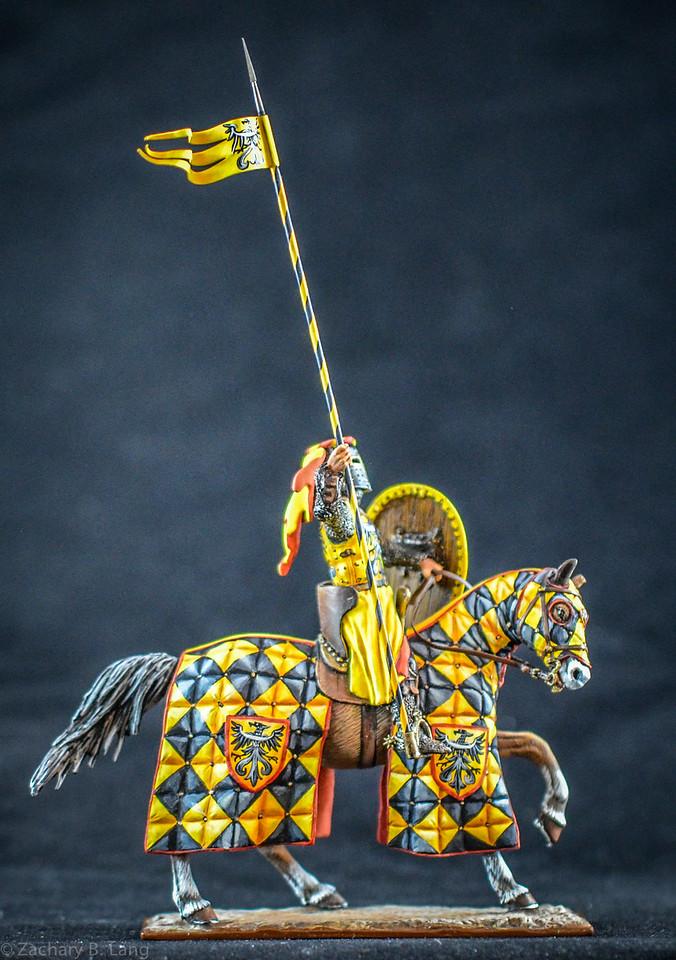 Mounted Germanic Knight w- Lance and Shield 1