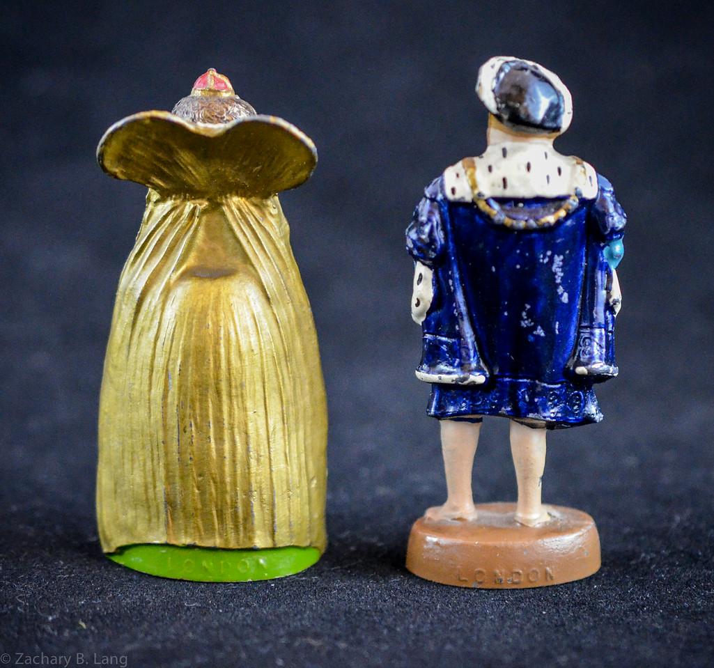 Wm  Britiains Madame Tussaud's Souvenir Henry VIII and Elizabeth 1934 back