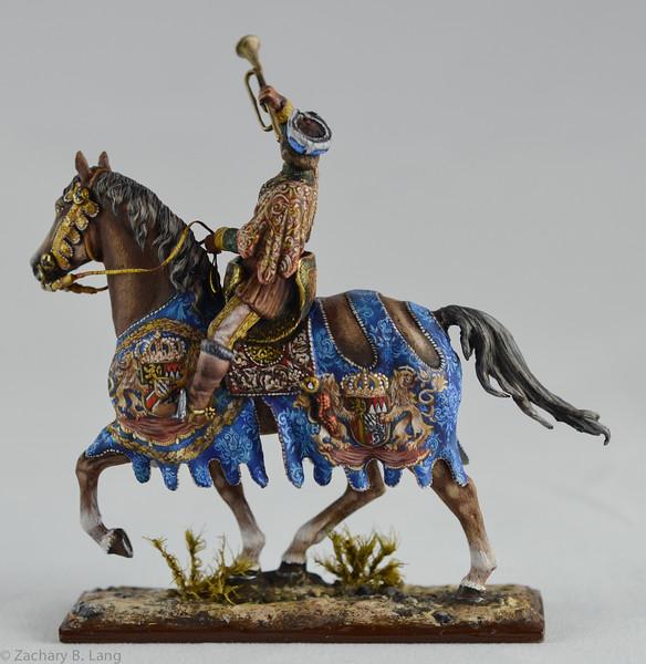 Medieval Herald Trumpeting - Mounted - Sineus 2