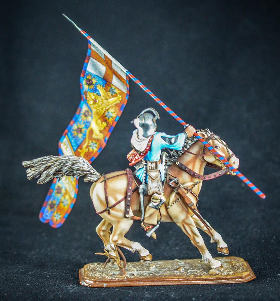 English Knight w- Flag of Edward IV 2