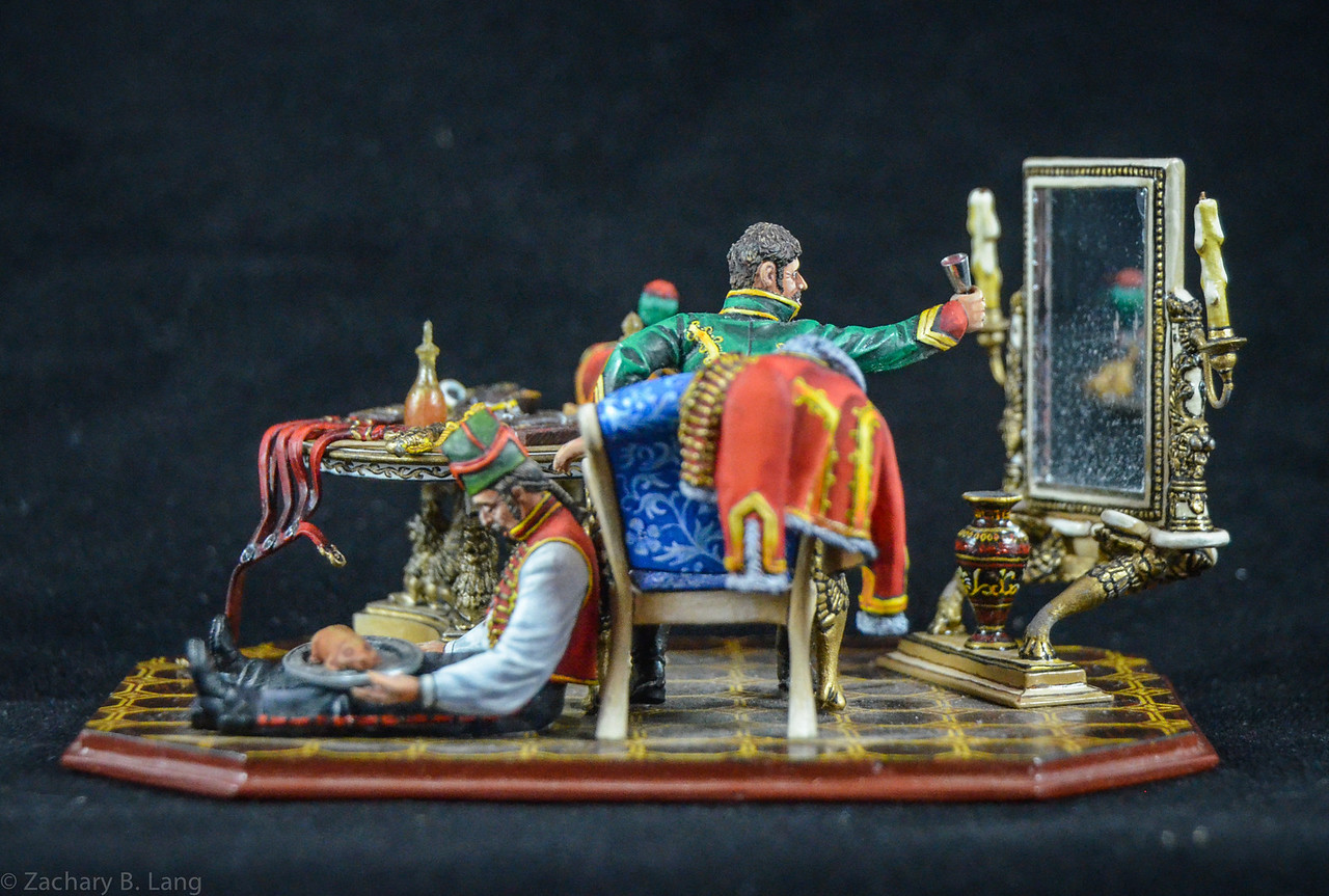 Hussar and Servant Celebrating Medal 3