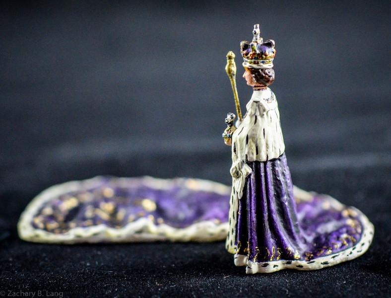 HRH Elizabeth II in Coronation Robes 2