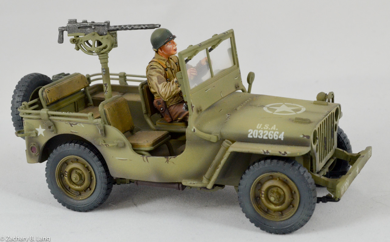 US Willys jeep & Driver, 22nd Inf 4thDiv-First Legion-NOR050 img2