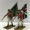 British 5th Foot Standard Bearer with Union Jack-First Legion-AWI023and 24