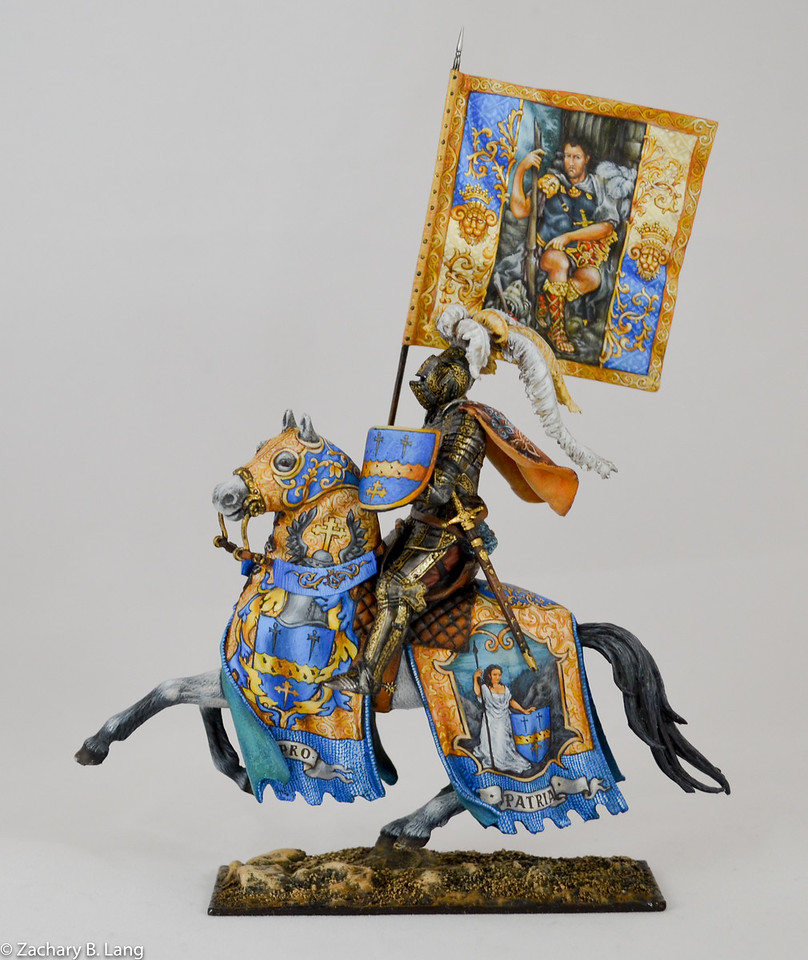 Parade Knight with Flag-Sineus Casting - Painted by Vitaly Puzenko-CF05 3 img1