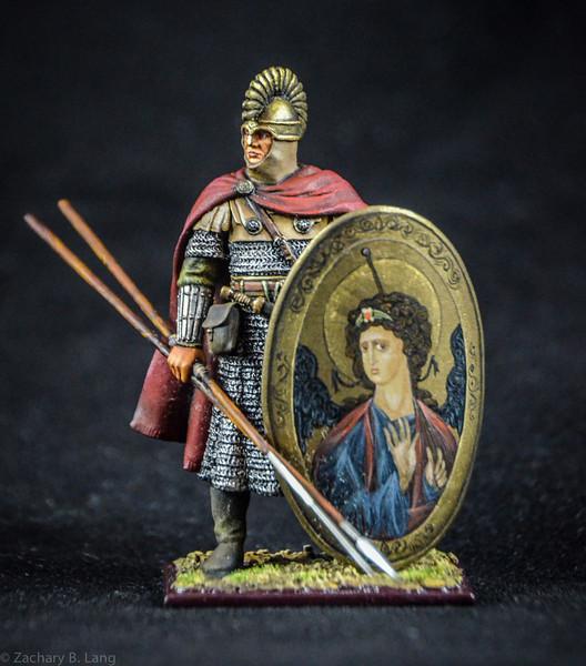 Byzantine Infantry Guardsman w-Decorative Religious Shield 1
