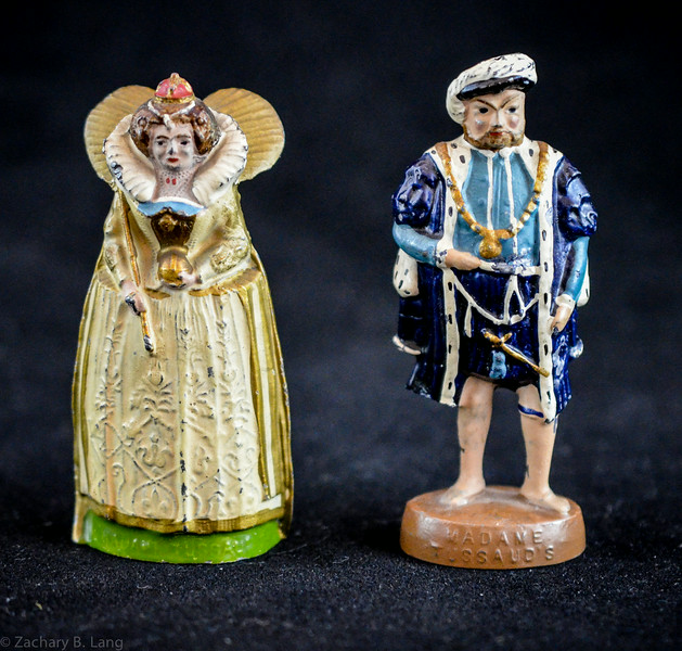 Wm  Britiains Madame Tussaud's Souvenir Henry VIII and Elizabeth I 1934
