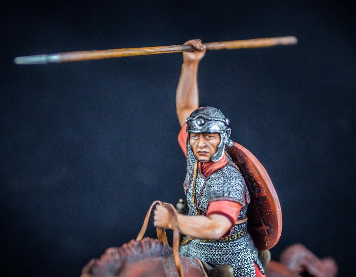 Roman Cavalryman at Full Gallop w- Spear 3