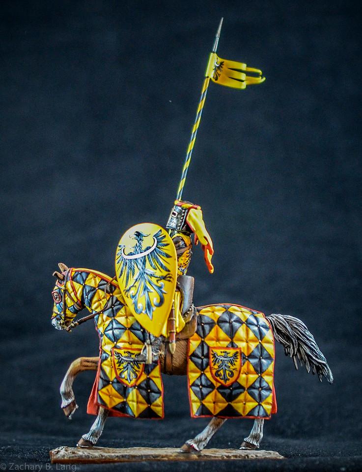 Mounted Germanic Knight w- Lance and Shield 2