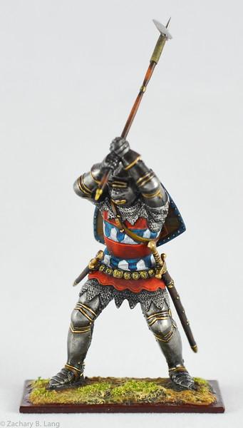 6349 Knight in Battle w- Battle Hammer - protoype 1