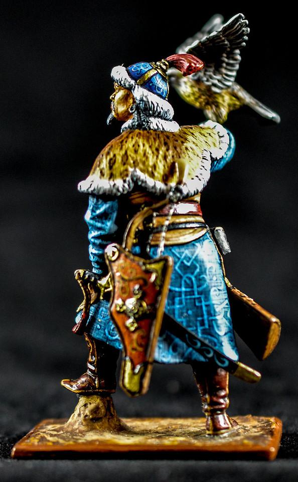 Mongol Warrior w- Hunting Hawk on Arm 2