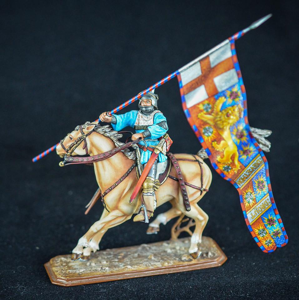 English Knight w- Flag of Edward IV 1