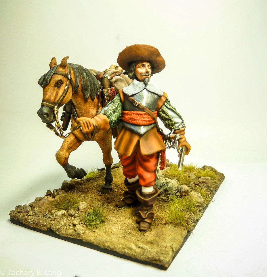 Tilly's Army on the March-Officer with Patter Horse-Peipp Miniaturen-img5