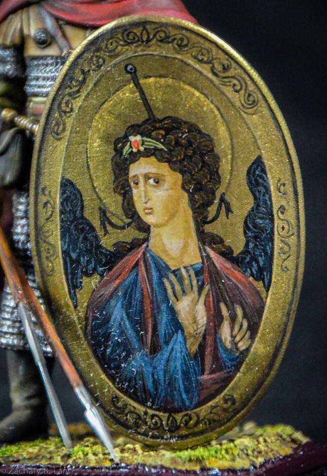 Byzantine Infantry Guardsman w-Decorative Religious Shield 2