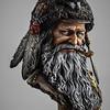 19th Century Mountain Man Bust - Castle Miniatures Kit-Olga Zernina Painting - img3