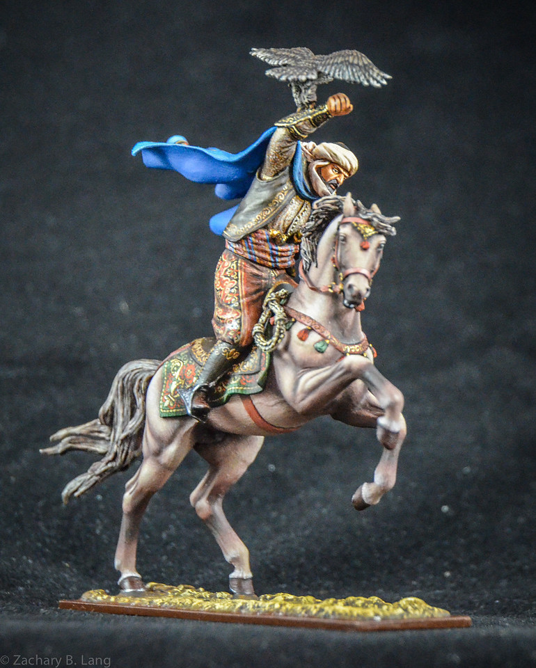 Arab Warrior Charging Holding Hawk 2