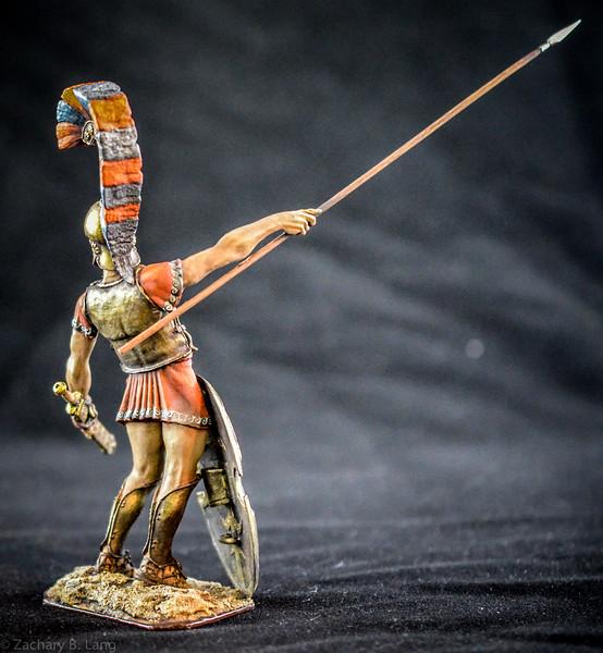 Greek Nobleman, Argiraspide, with Spear  90mm 2