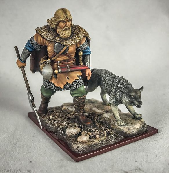 Viking King Olaf Tryggvason w-Wolf-AeroArt-St Petersburg Collection-6379