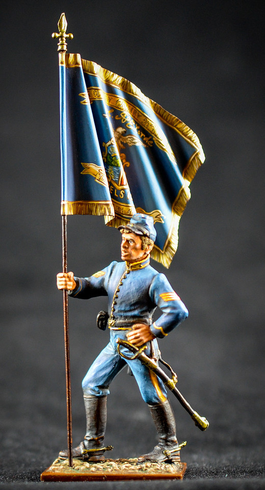 Union Cavalryman w- Flag 1