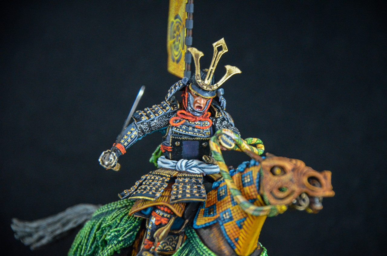 Samurai Warrior w-Flag and Sword 2