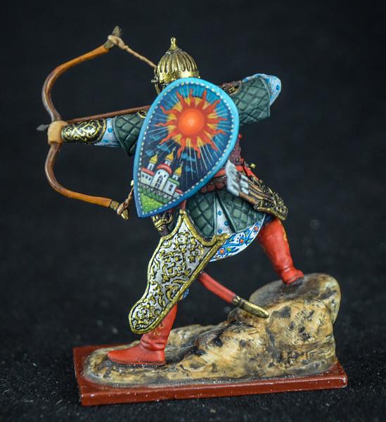 14th C Russian Archer Firing Bow 2
