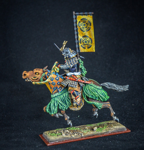 Samurai Warrior w-Flag and Sword 3