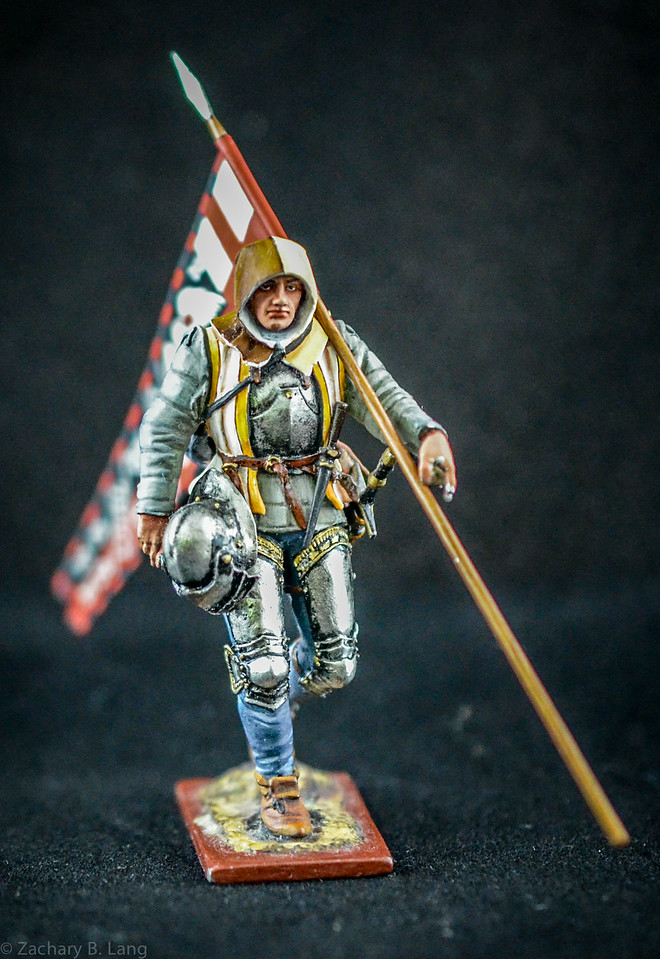 3820 3 War of the Roses Warrior w- Flag 2