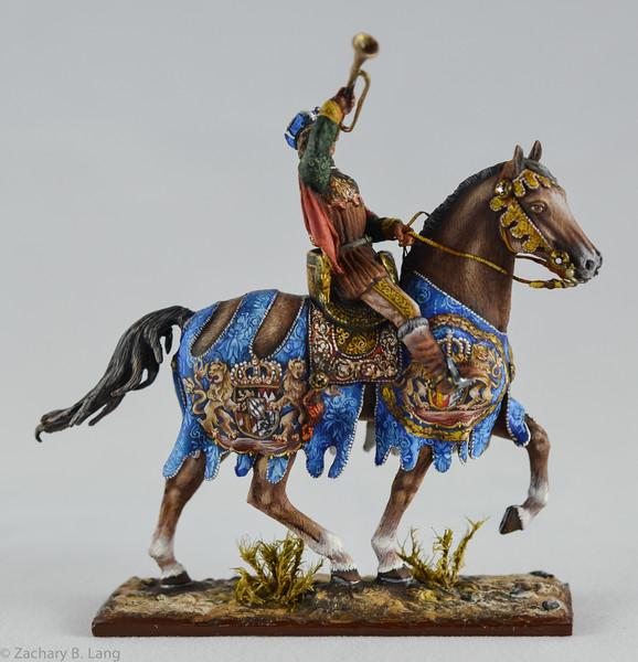Medieval Herald Trumpeting - Mounted - Sineus 1