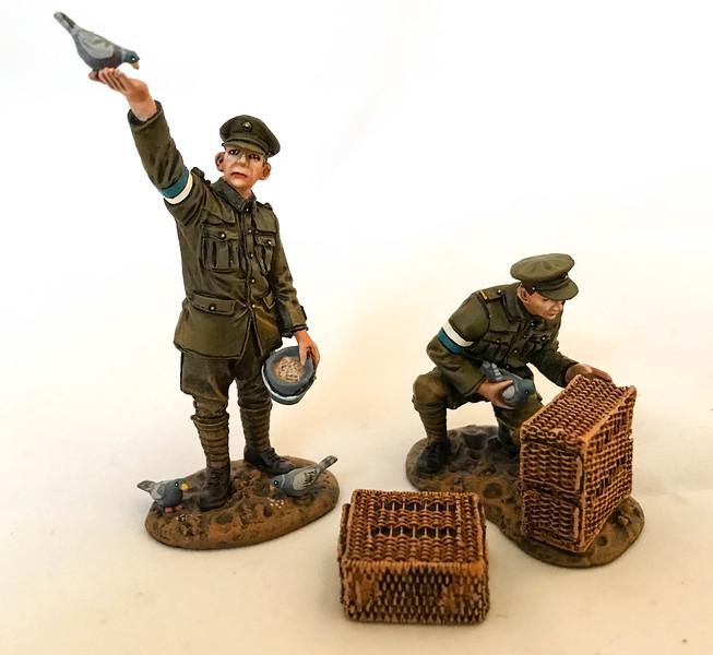 2 Pigeon Handlers Royal Engineers Signal Service (RESS)-John Jenkins Designs-GWB-15B