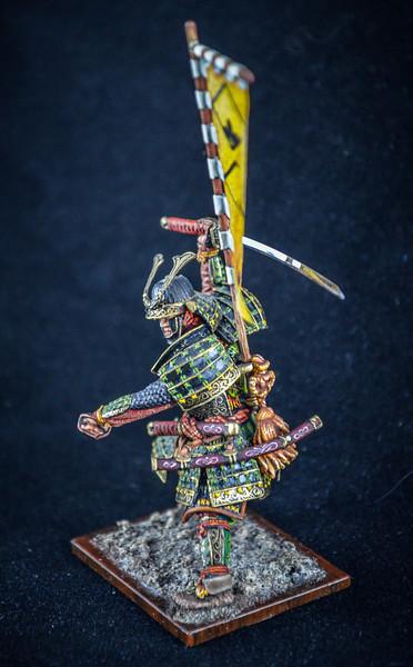 Samurai Warrior, Full Armor w-Sword and Flag 2
