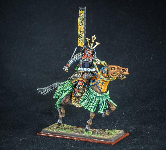 Samurai Warrior w-Flag and Sword 1