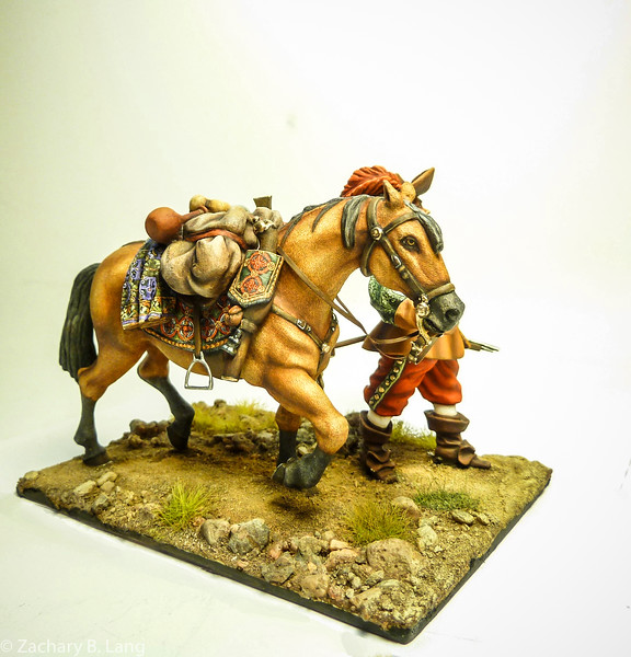 Tilly's Army on the March-Officer with Patter Horse-Peipp Miniaturen-img2