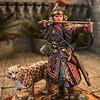 Khutulun, Mongol Princess Warrior w-Snow Leopard-AeroArt-St Petersburg Collection-6414 img2