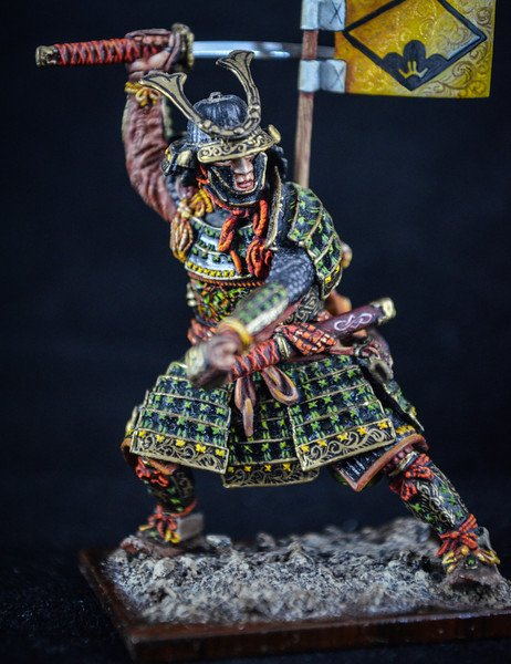 Samurai Warrior, Full Armor w-Sword and Flag 4