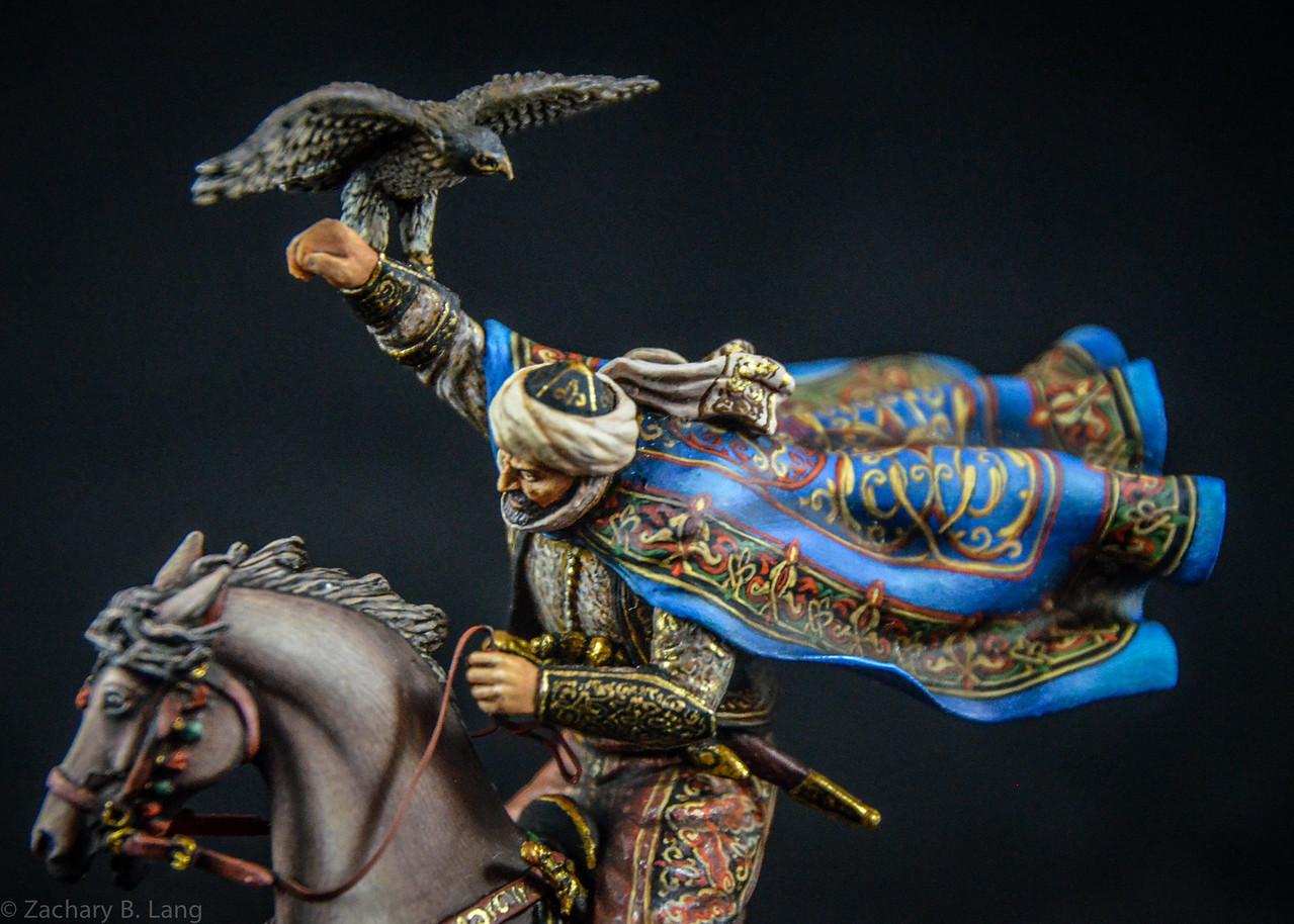 Arab Warrior Charging Holding Hawk 3