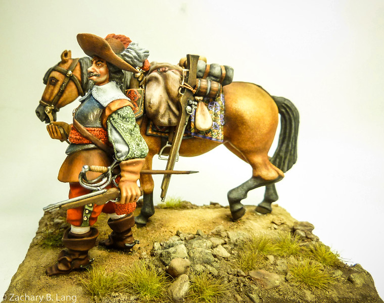 Tilly's Army on the March-Officer with Patter Horse-Peipp Miniaturen-img1